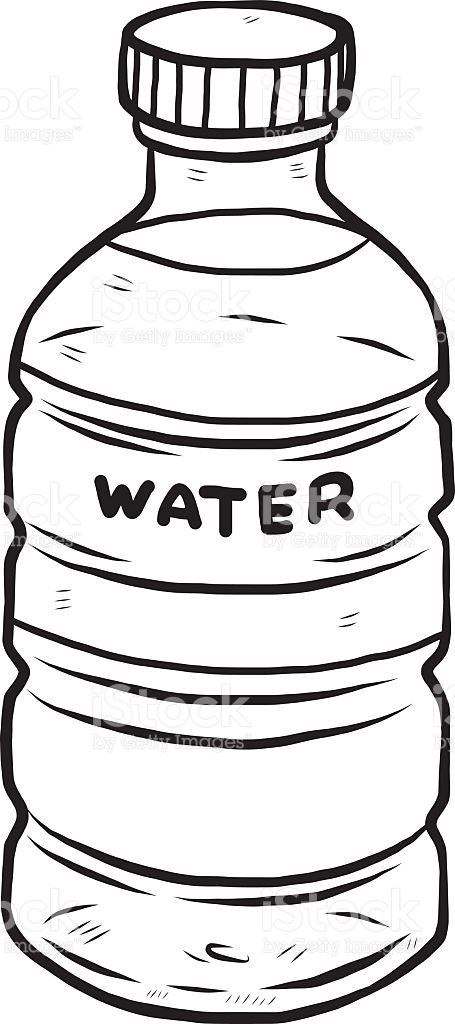 455x1024 Bottle Clipart Line Drawing