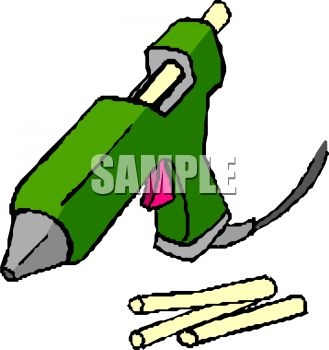 329x350 Hot Glue Gun Clipart