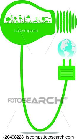 261x470 Clip Art Of Go Green Concept K20498228