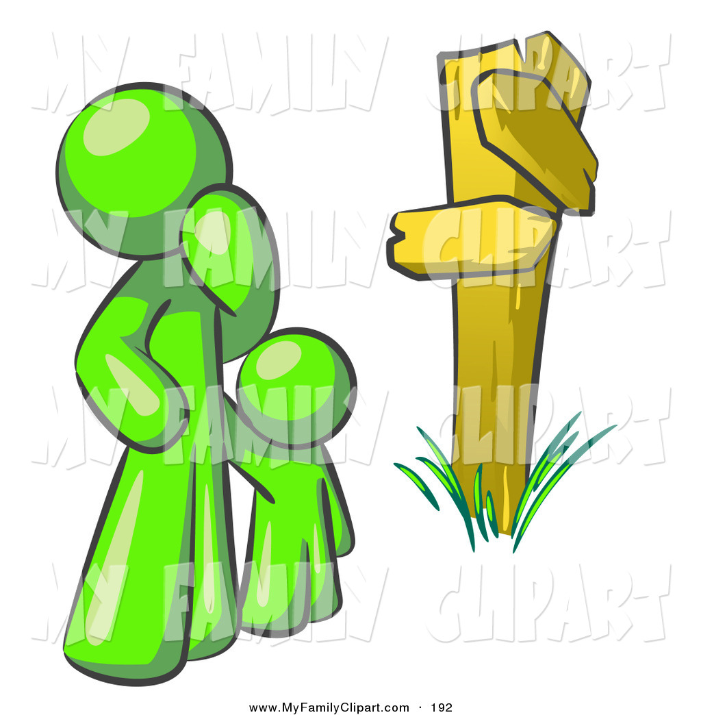 1024x1044 Clip Art Of An Uncertain Lime Green Person And Child Standing