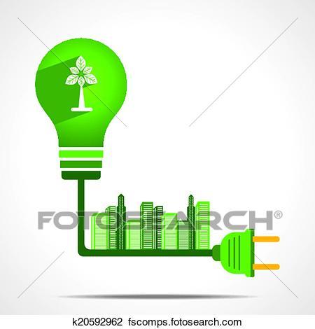 450x470 Clipart Of Go Green Energy Concept K20592962