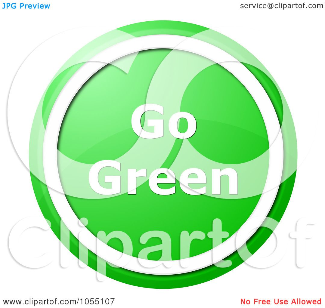 1080x1024 Royalty Free Clip Art Illustration Of A Green And White Go Green
