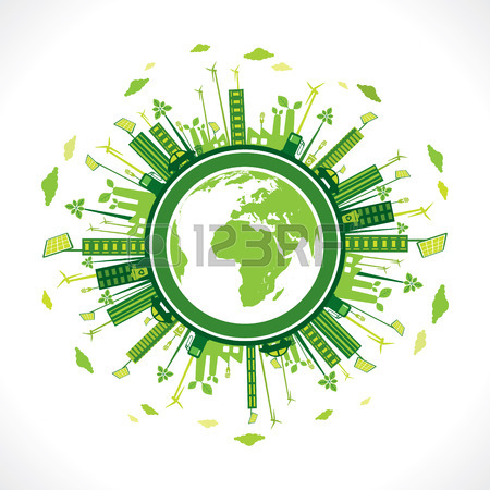 450x450 Go Green Earth Or Green City Save Earth Concept Vector Royalty