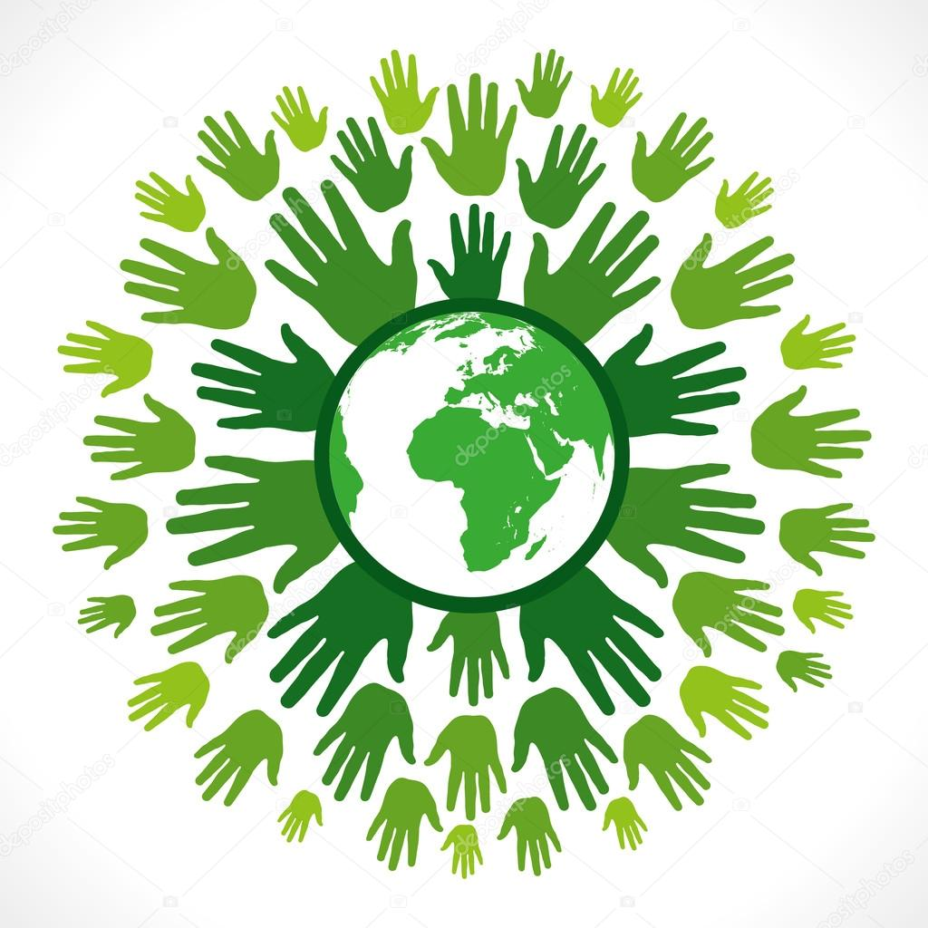 1024x1024 Go Green Concept Or Save Earth Concept Vector Stock Vector