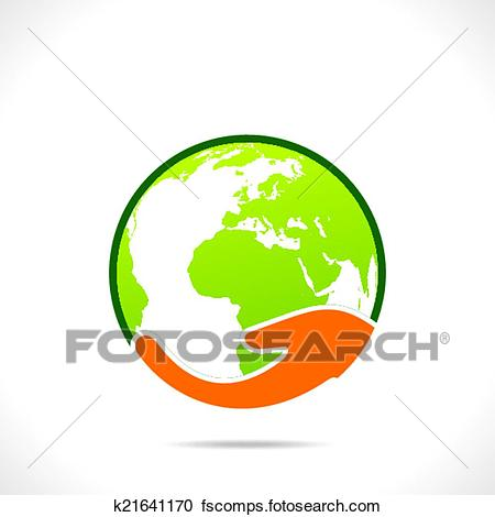 450x470 Clipart Of Save Earth Or Go Green Earth Symbol K21641170
