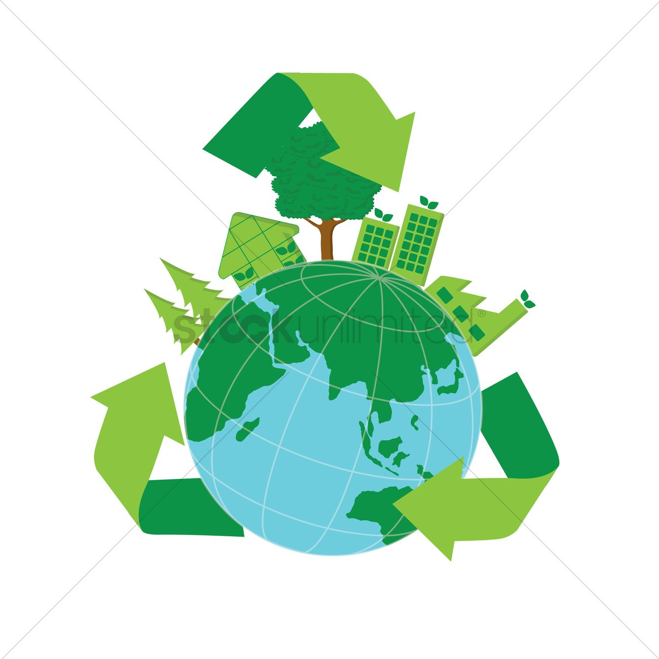 1300x1300 Free Go Green Earth Vector Image