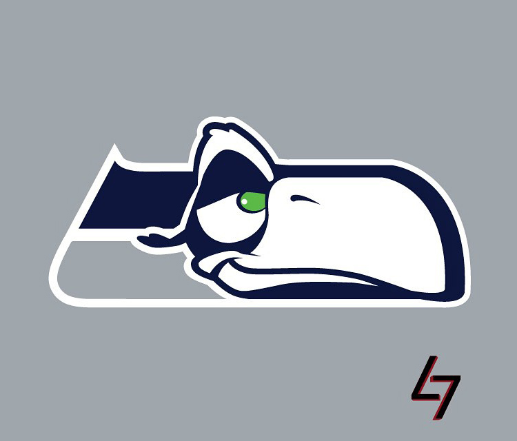 750x640 If Nfl Team Logos Used Disney Characters Team Logo And Seahawks