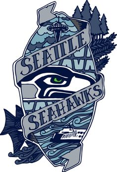 236x347 Seattle Seahawks 12th Man Fear This Eye Vinyl Decals Sticker 2
