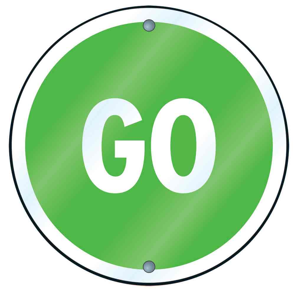 1000x982 Best Green Go Sign