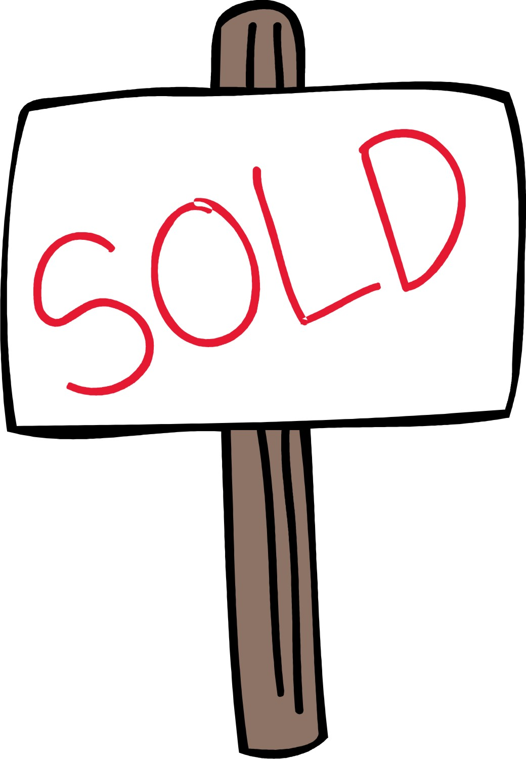 1040x1500 Sold Sign Clipart