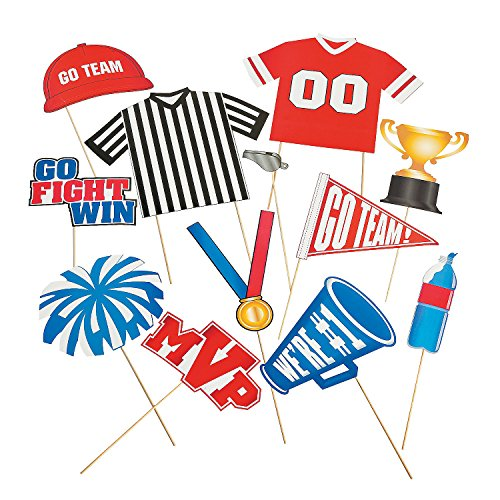 500x500 Go Team Fight Win Sports Party Photo Booth Stick Props