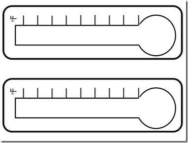 381x290 Blank Fundraising Thermometer Template