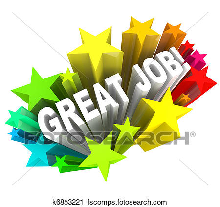 450x422 Clipart Of Great Job Words Praising A Successful Goal Accomplished