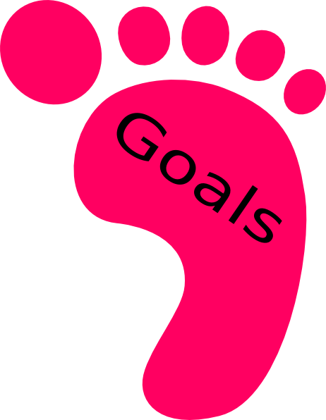 462x596 Right Footprint Goals Clip Art