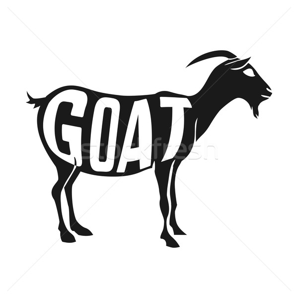 600x600 Creative Design Of Goat Inside Animal Silhouette Isolated Black