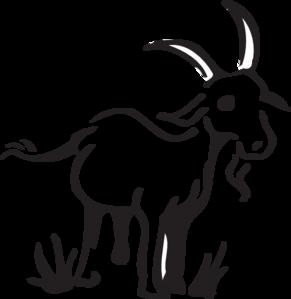291x299 Goat In The Grass Clip Art