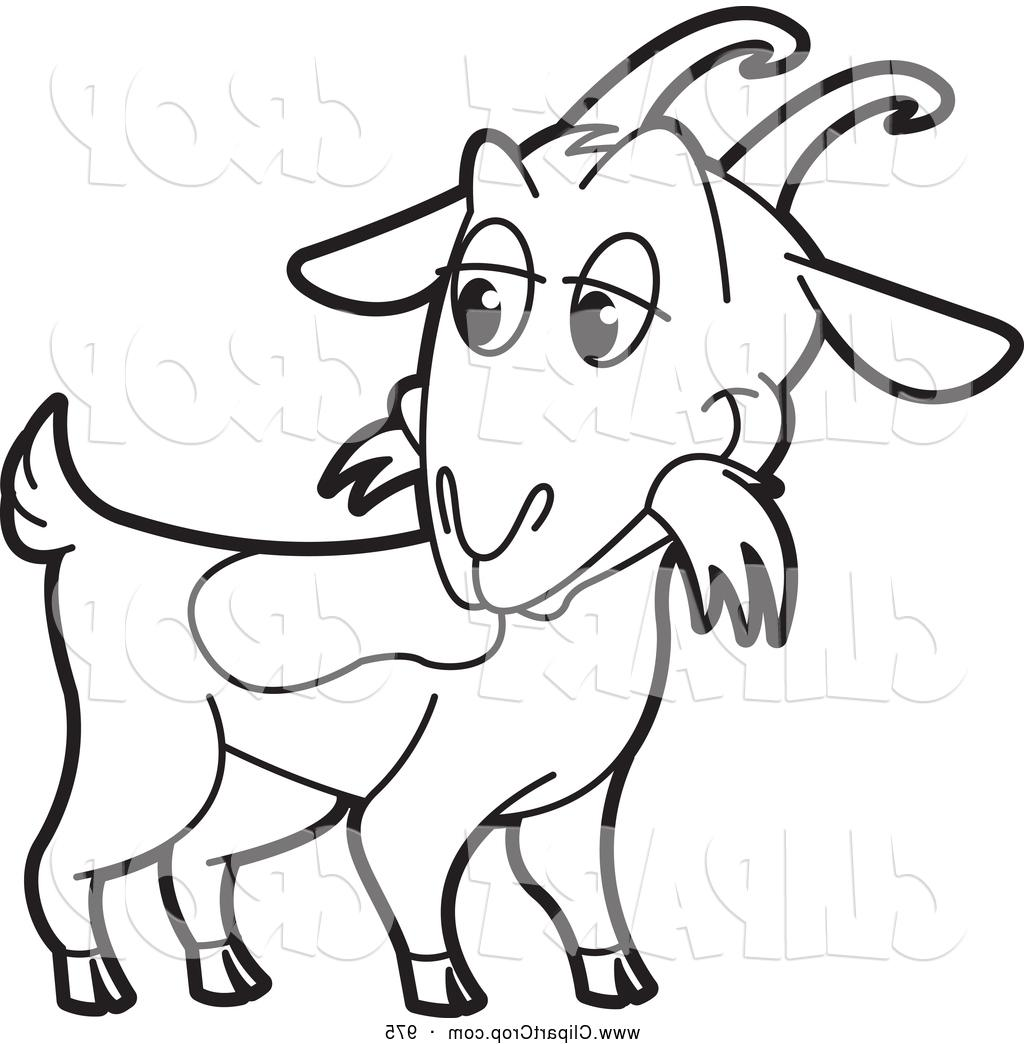 1024x1044 Best Hd Goat Clipart Clip Art Vector Of Black And White By Lal