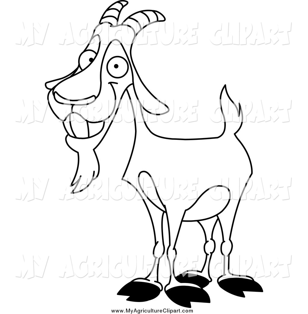 1024x1044 Clipart Of Goat Black And White