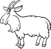 168x162 Black And White Goat Clipart
