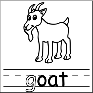 304x304 Clip Art Basic Words Oat Phonics Goat Bampw I