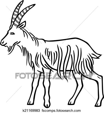 433x470 Clipart Of Billy Goat K21169983