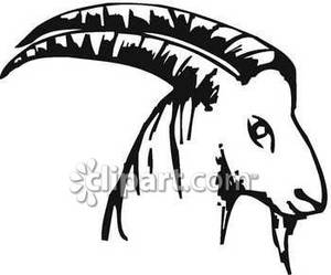 300x249 Goat Black And White Clipart