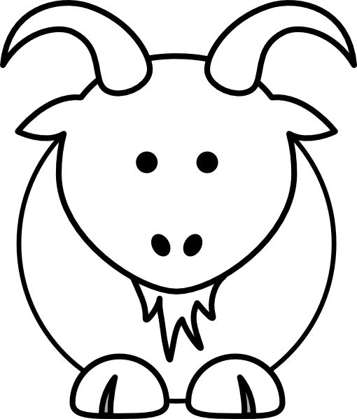510x599 Goat Clip Art Animal Coloring Pages Could Be Applied To Many