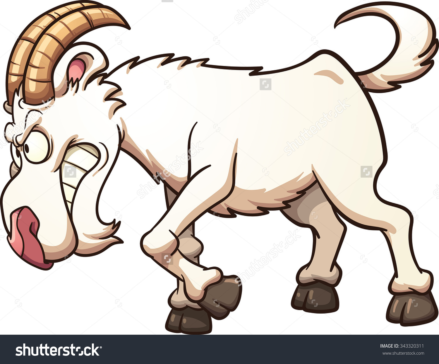 1500x1242 Billy Goat Clipart Graphic
