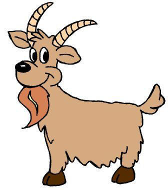 336x380 Cartoon Goat Clipart