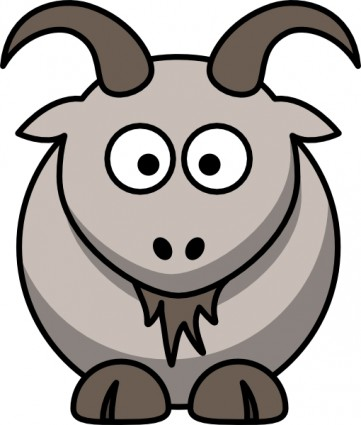 361x425 Cartoon Goat Clip Art Free Vector In Open Office Drawing Svg