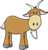 165x170 Clip Art Of Cute Farm Goat Vector K9364136