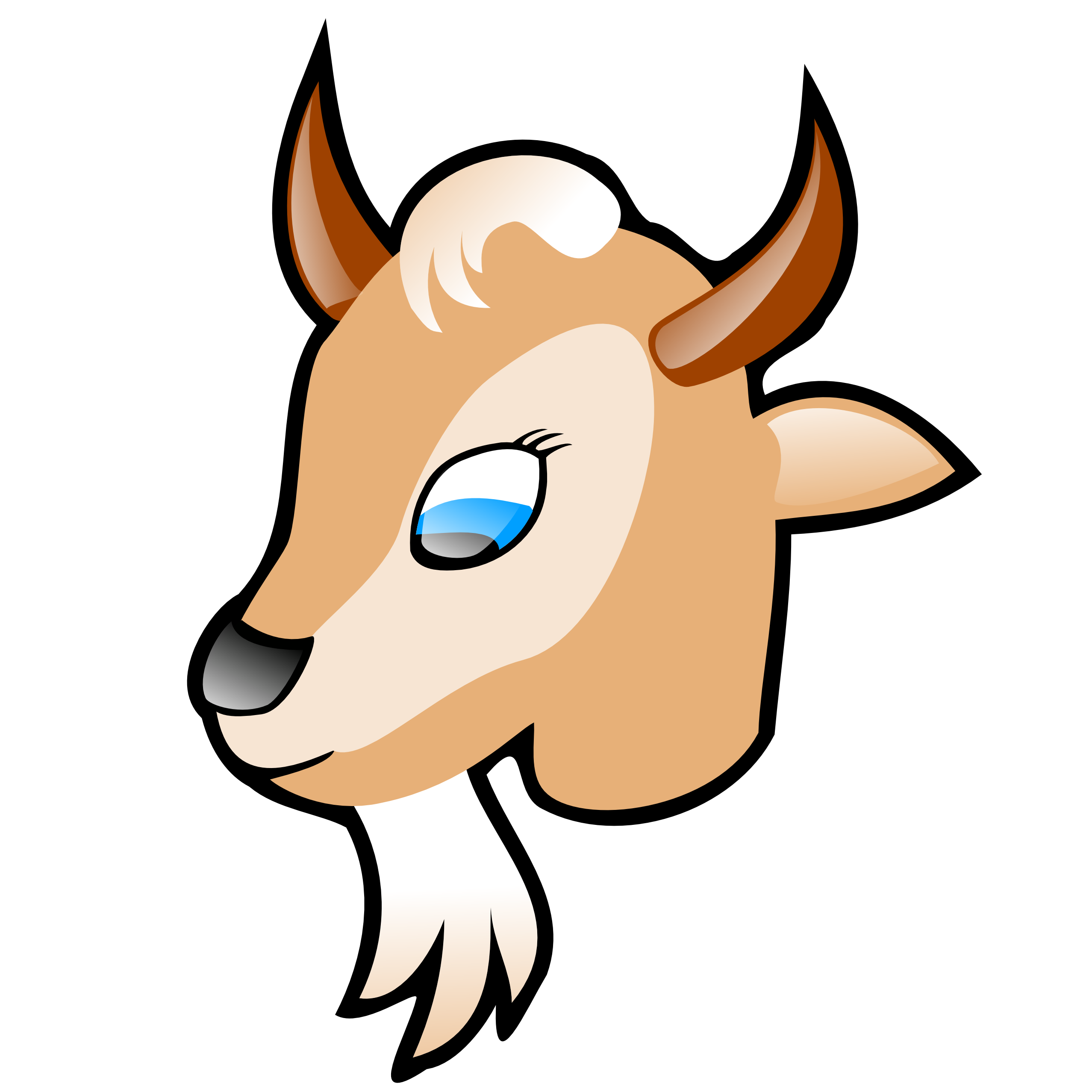2555x2555 Goat Clipart Black And White Free Images