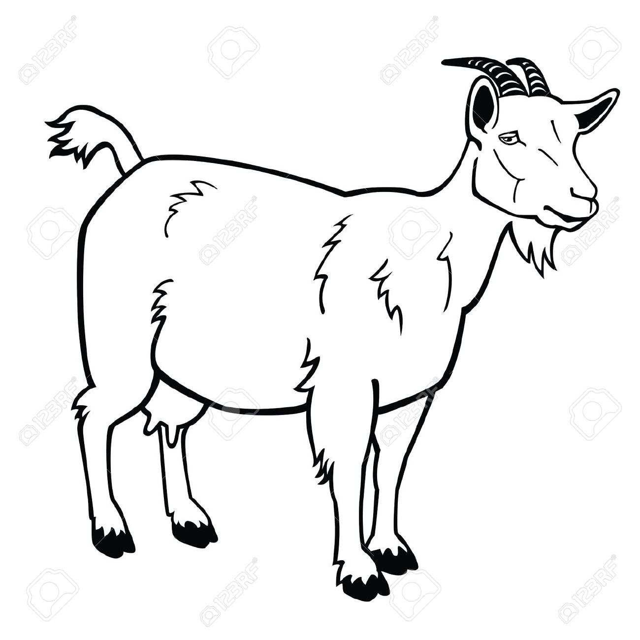 1300x1300 Goats Head Clipart Black And White