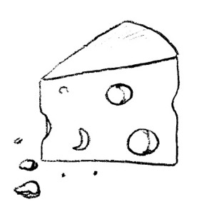 300x300 Cheese Clipart Black And White Free Images