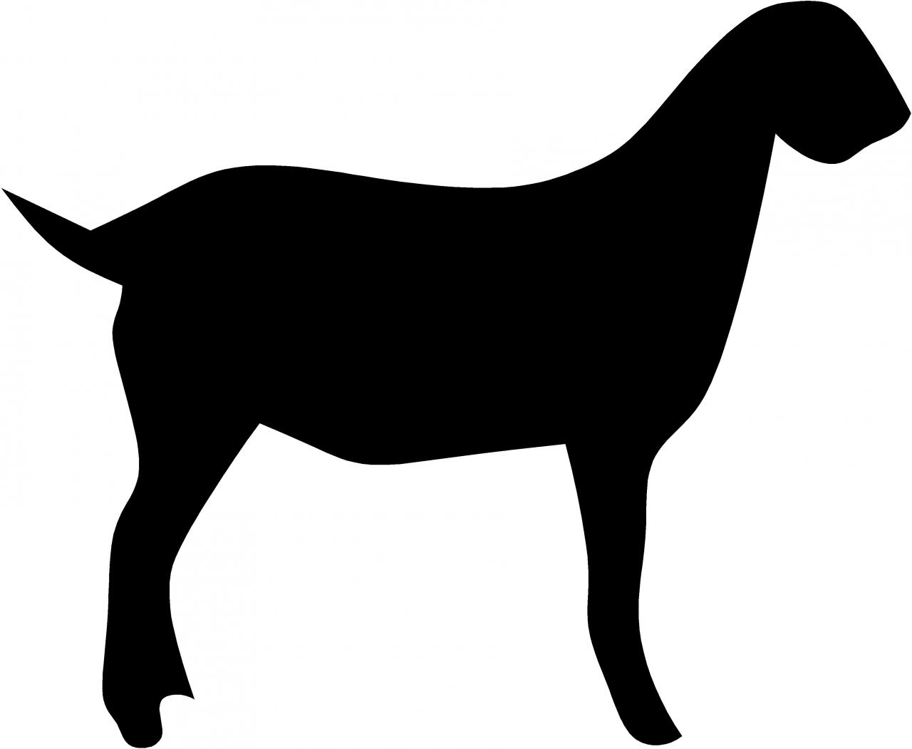 1280x1051 Goat Clipart Silhouette