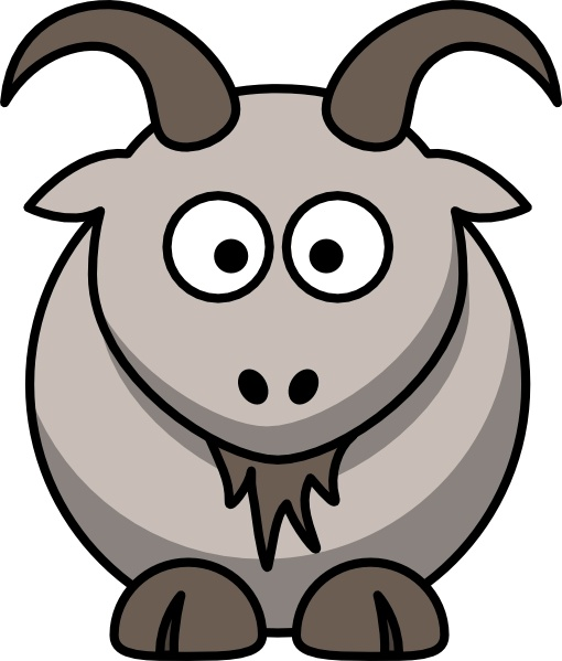 510x599 Cartoon Goat Clip Art Free Vector In Open Office Drawing Svg