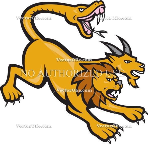 590x581 Artwork, Attacking, Cartoon, Cat, Creature, Feline, Folklore, Goat