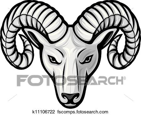 450x367 Clipart Of Head Of The Ram (Ram Head) K11106722