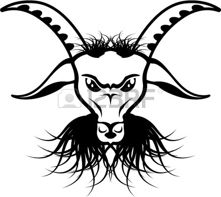 450x401 Devil Evil Goat Satan Vector Illustration Clip Art Image Royalty