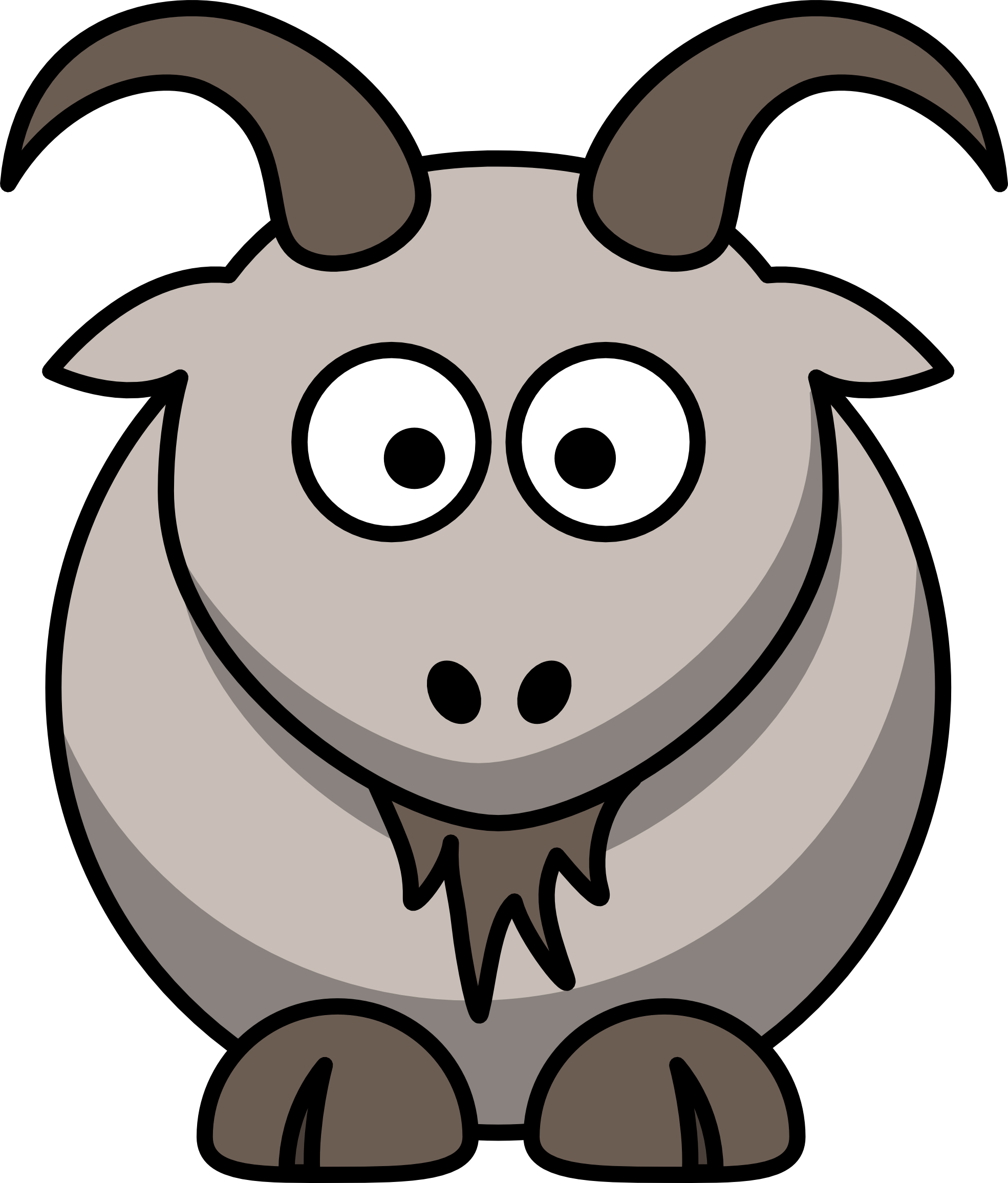 1969x2311 Free Goat Clipart