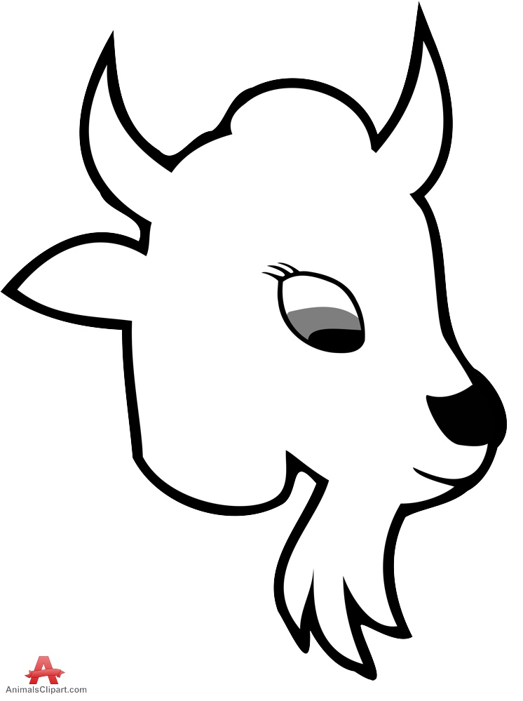 746x999 Baby Goat Head Clipart Design Free Clipart Design Download