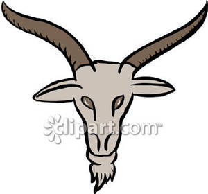 300x280 Goat Head With Horns