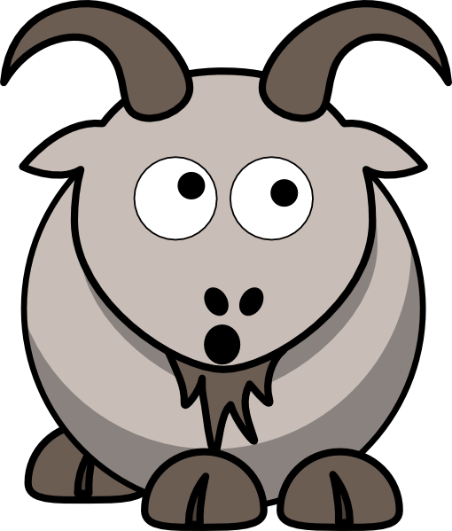 510x599 Goat Clipart Cartoon