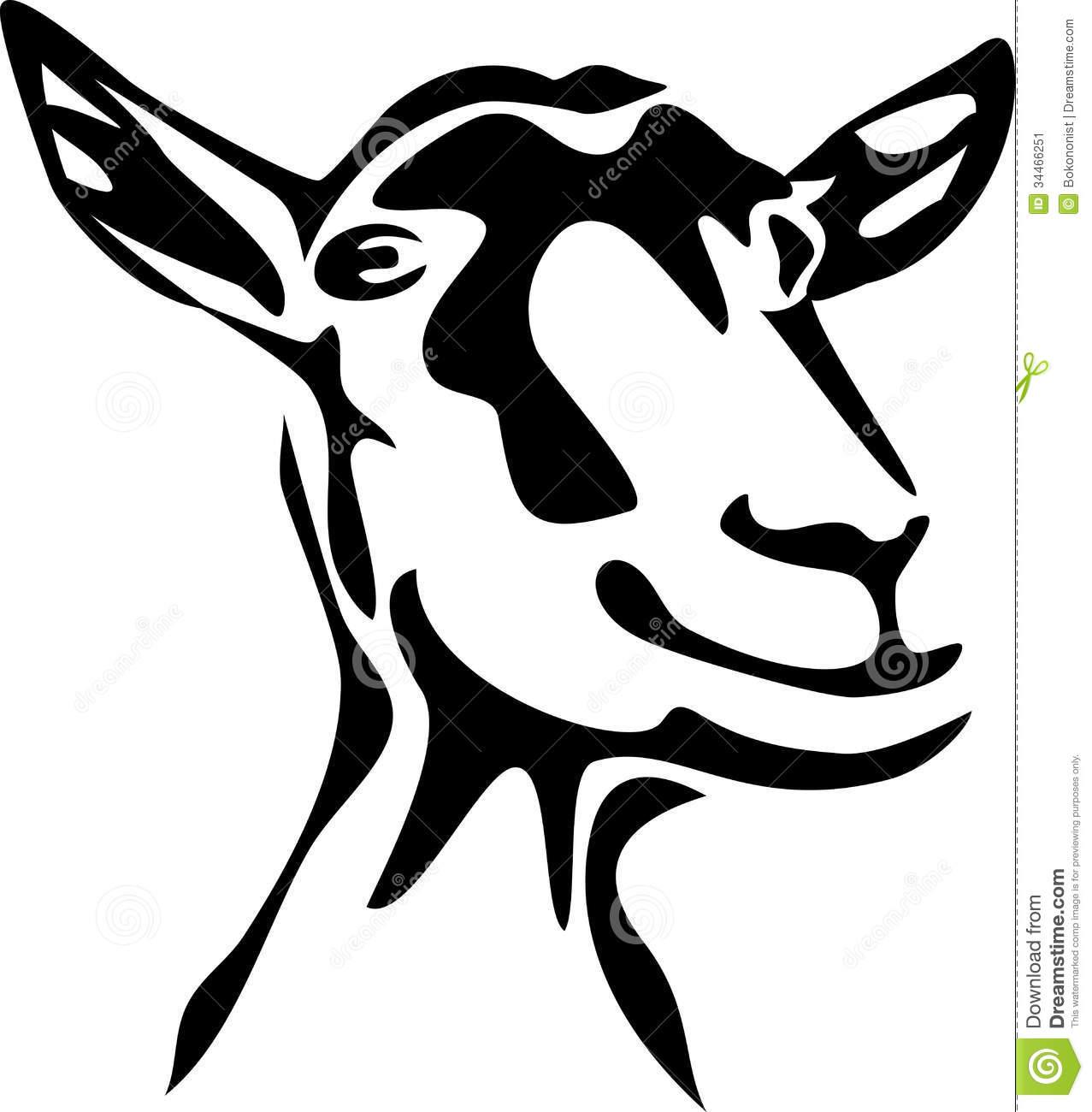 1277x1300 Goats Head Clipart Silhouette