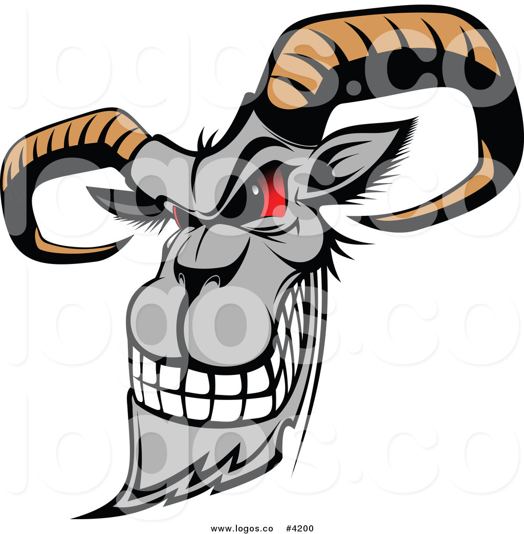 1024x1044 Royalty Free Mad Goat Logo By Vector Tradition Sm