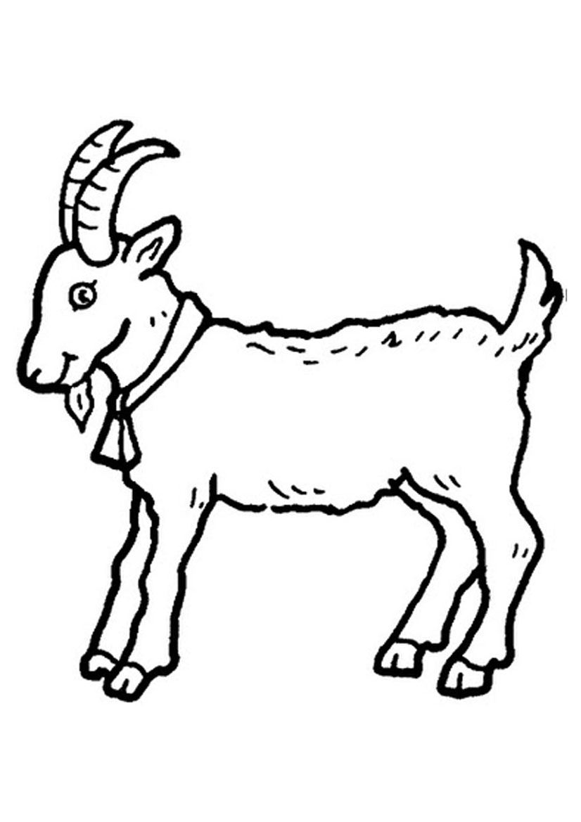 826x1169 Free Printable Goat Coloring Pages For Kids