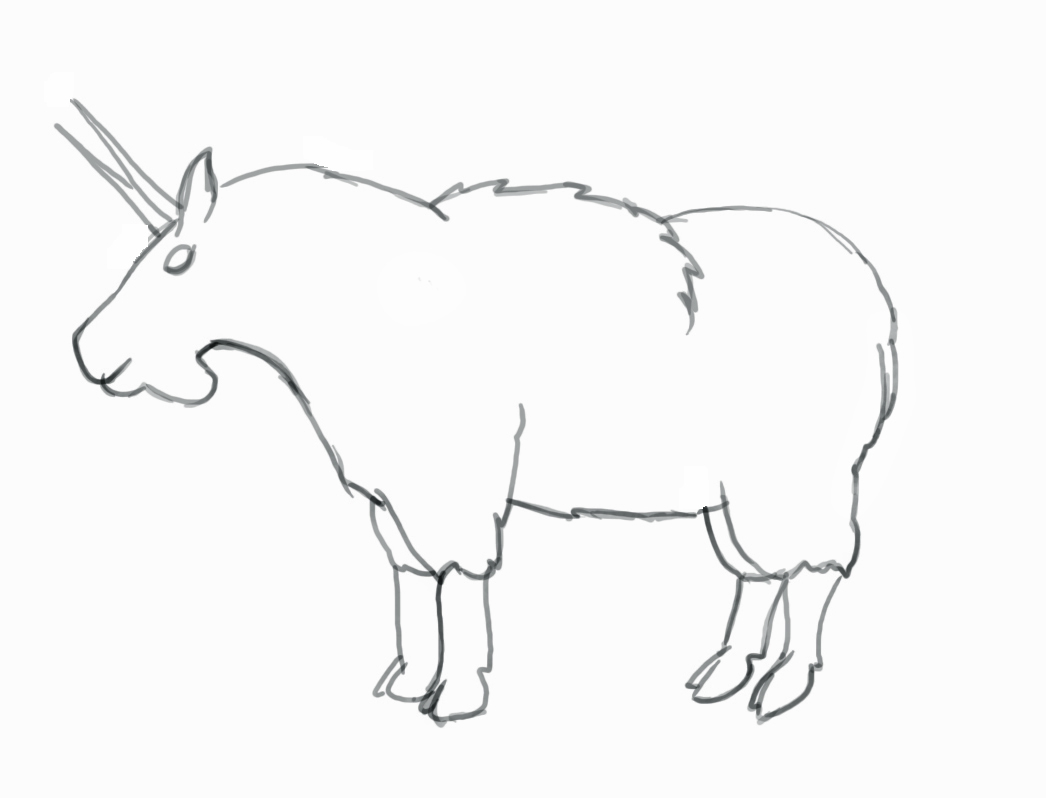 1046x798 Mountain Goat Coloring Sheet Page Image Clipart Images