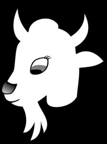 222x298 Goat Face Clipart Color