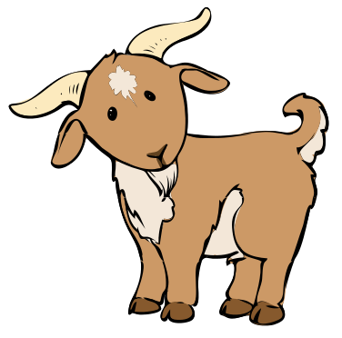 376x372 Goat Cartoon