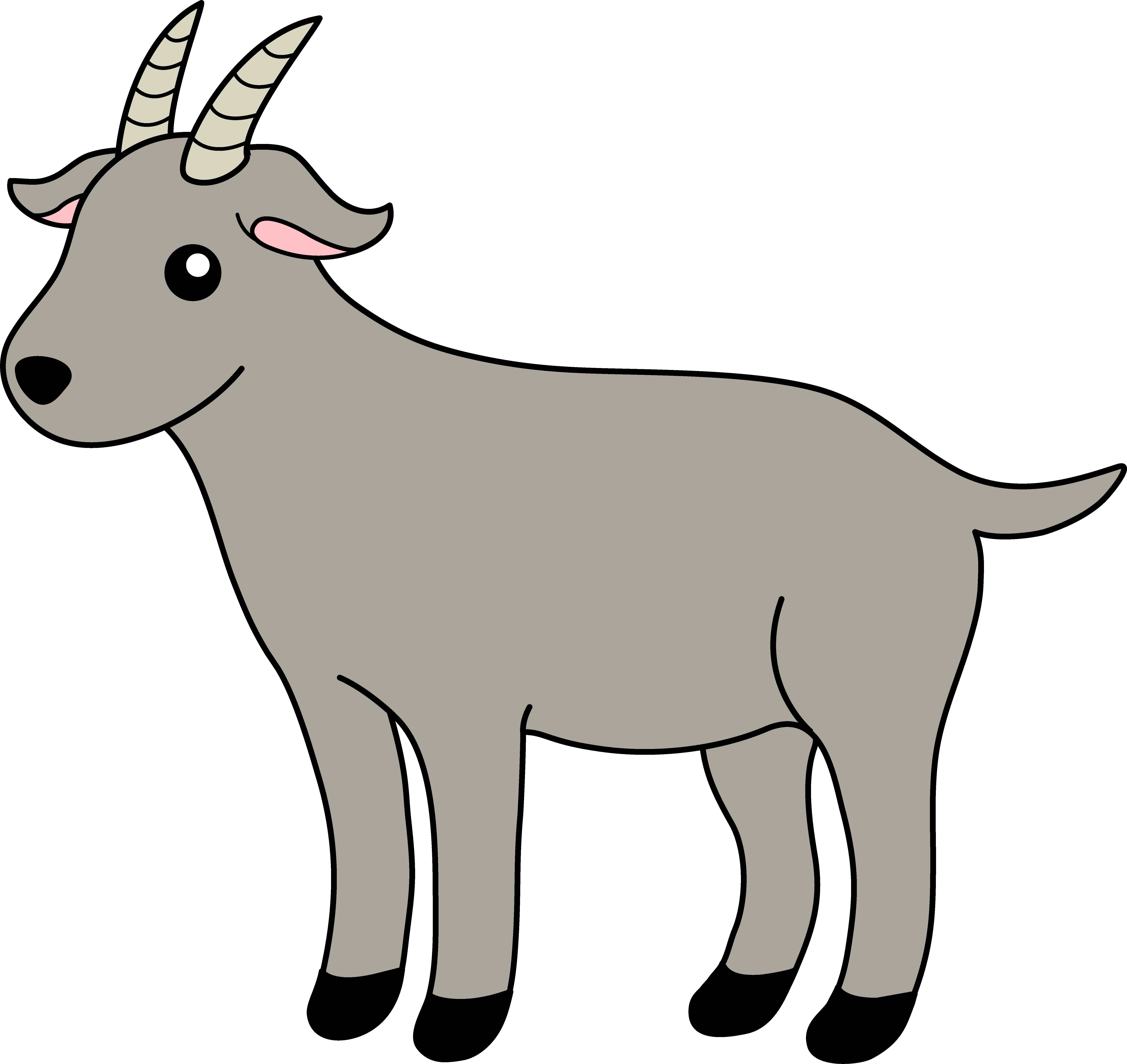 6445x6083 Silly Goat Cliparts 257582